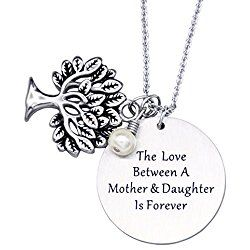 Personalized Family Tree Necklace, Tree of Life Pendant, Mother Gift Necklace, Mother's Day Gifts Grandmothers
