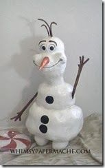 Whimsy Paper Mache.com: How to Make a Paper Mache Olaf the Snowman