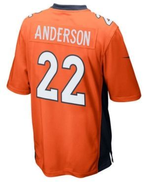 Nike Boys' C.j. Anderson Denver Broncos Game Jersey - Orange XL