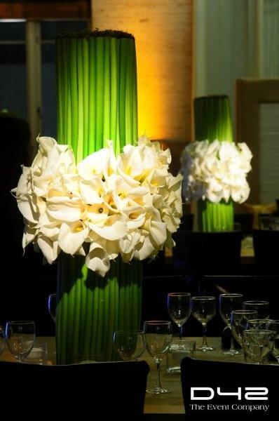 Spring Summer Winter Green Ivory White Centerpiece Centerpieces Indoor Reception Wedding Flowers Photos & Pictures - WeddingWire.com
