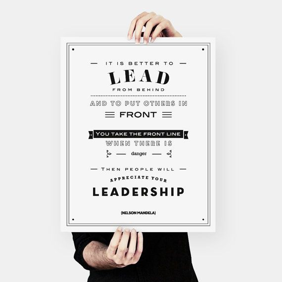 Large Scale Nelson Mandela Quote leadership African by MessProject #mandela #typography #leadership #blackandwhite #motto