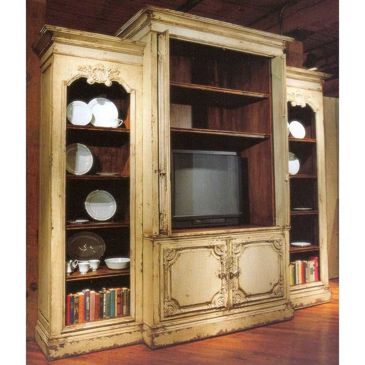 timber rustic entertainment centers and bookcases | Habersham Bordeaux 9-Foot Home Entertainment Center HB-27-4685