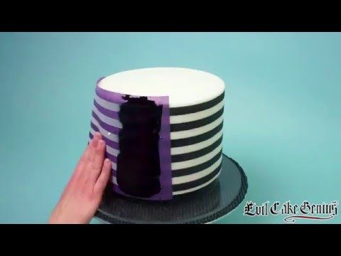 Horizontal Stripes Allow The Evil Cake Genius to introduce you to your new best friends...our new line of Horizontal Stripe Mesh Stencils.
