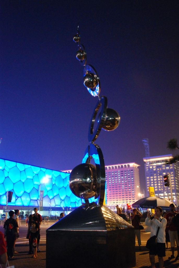 "Ralfonso's ""Dance with the Wind"" kinetic wind sculpture 10m (33ft) at the 2008 Olympic Games in Beijing"