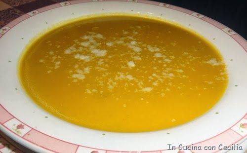 Ricetta della vellutata di zucca con cipolla e patata
