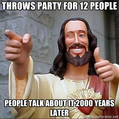 """""""I want to be formal, but I'm here to  party.  Cause I like to party, so I like my Jesus to party."""""""
