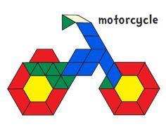 Tons of Pattern Block Mats: alphabet, animals, pagtterns, shapes