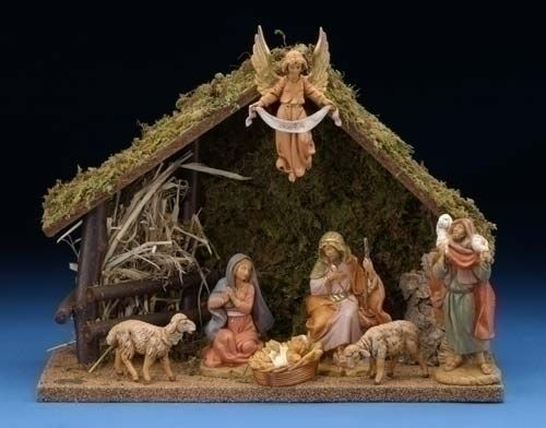 Fontanini Nativity...if you are looking for a great Christmas tradition, this is it.  We choose our figurines based on what is going on in our lives at the moment.  Beautiful stuff.