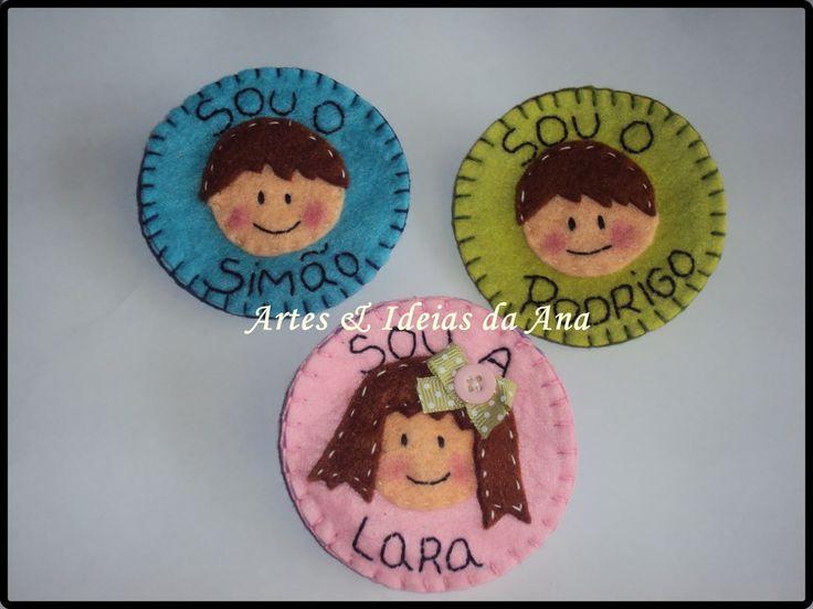 manimai divertido para colocar no fece | Crachás personalizados (feltro) /Custom badges (Felt) - (Artes ...