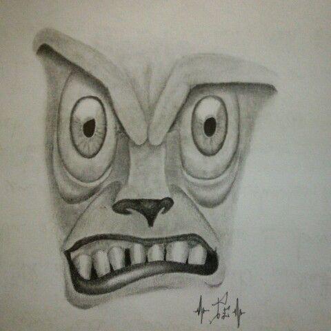 Mostro, disegno a matita.