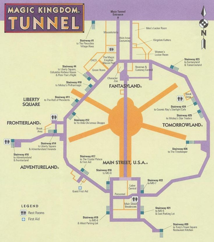 secret tunnels at Disney