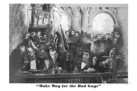 Godfather Goodfellas Scarface Sopranos Movie (Make Way For The Bad Guys) Poster Print Prints at AllPosters.com