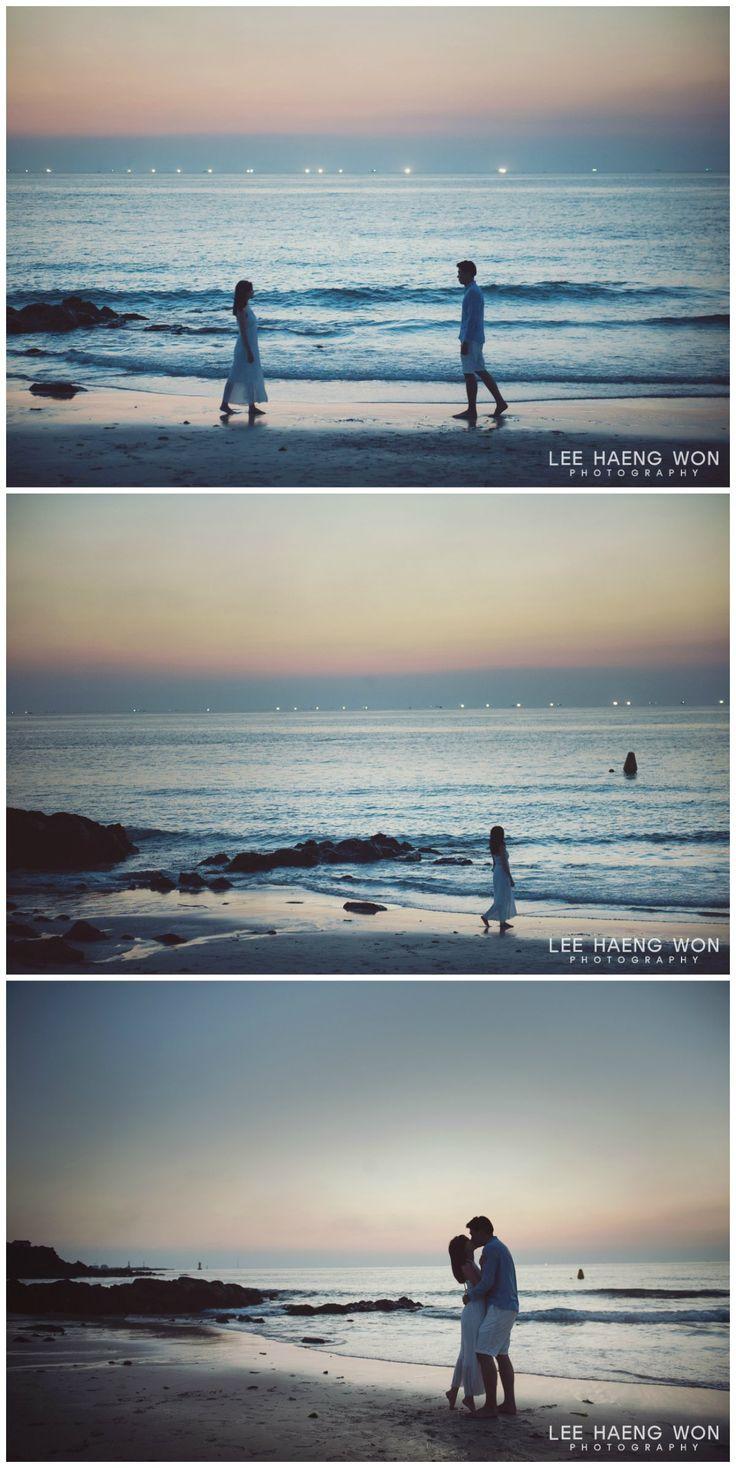 Sunset at Jeju Island // Korea Prewedding Photography