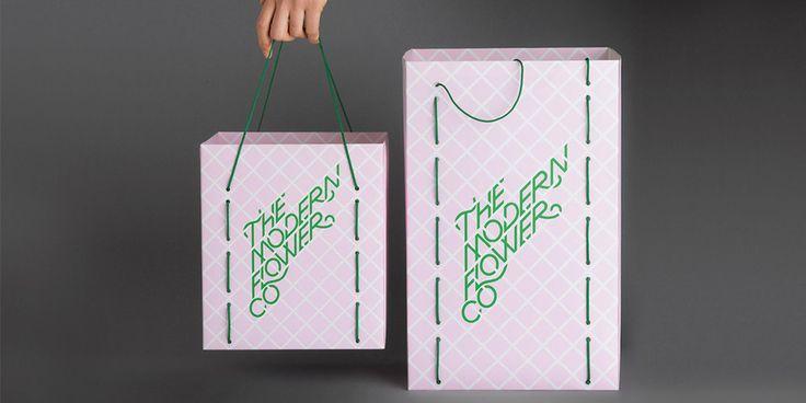 The Modern Flower Co. Florist — The Dieline - Branding & Packaging Design
