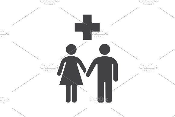 Family doctor glyph icon @creativework247