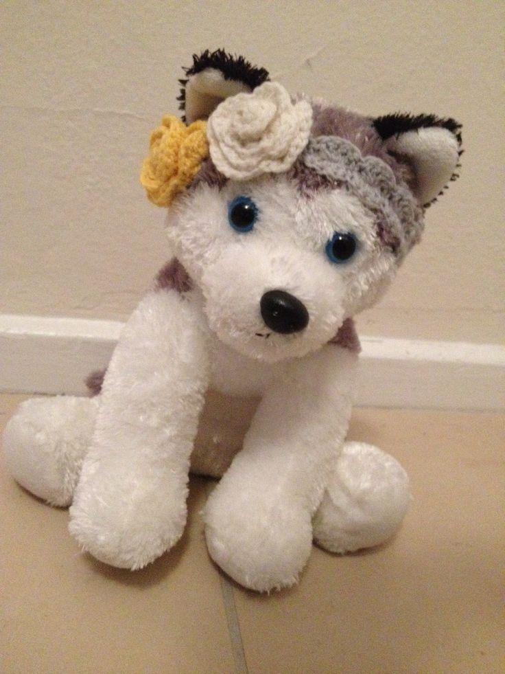 Baby crochet headband rose