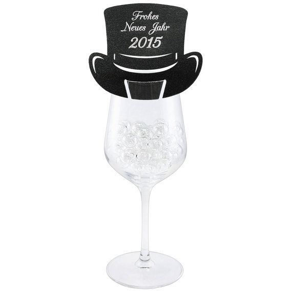 New Years eve decoration Top hat place card Beaver hat by CraftCut