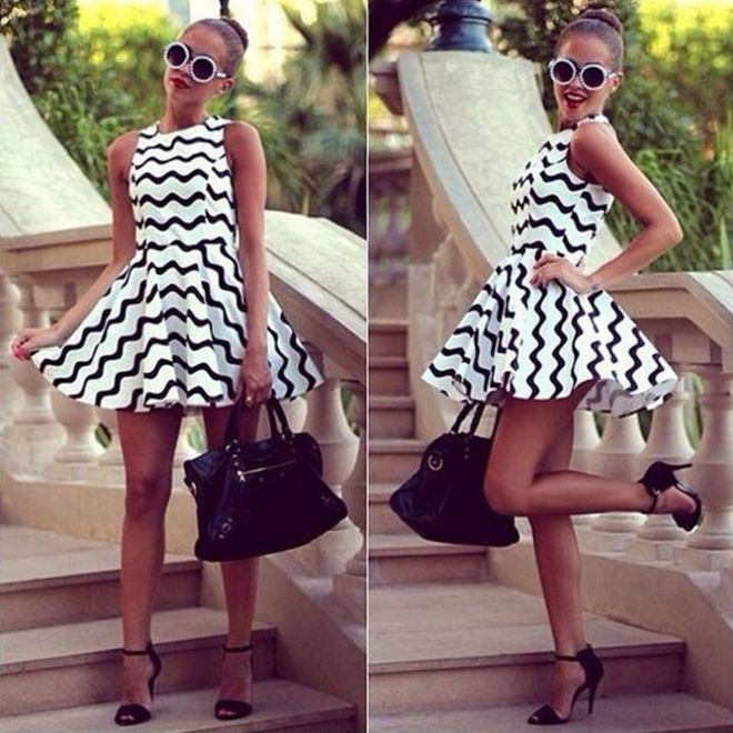 Black and white dress theme party