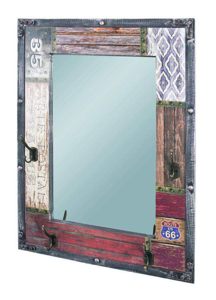 Zrkadlo s vešiakmi ROUTE 28955 - SCONTO NÁBYTOK