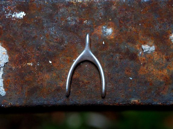 Wishbone Lucky charmAntique Silver Two by GreekBeadShop on Etsy