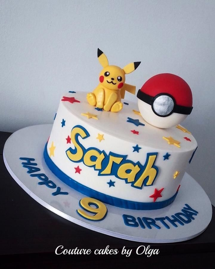 Pokemon cake - Cake by Couture cakes by Olga