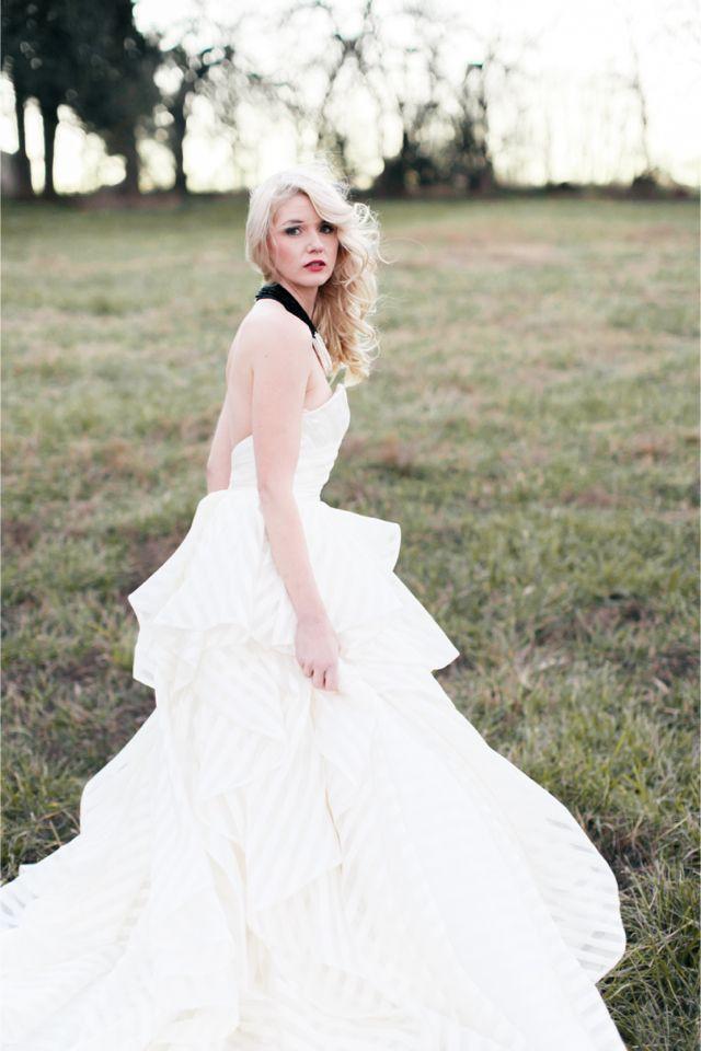 striped wedding dress alea lovely photography httpburnettsboardscom