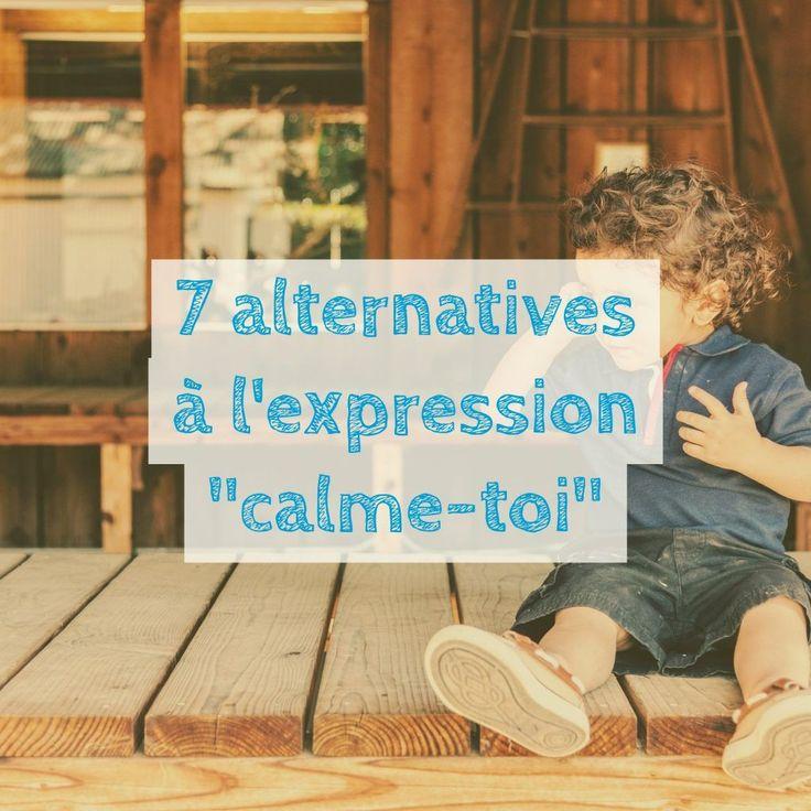 L'expression du jour (« calme-toi ») est une source de frustration à la fois pour les parents et les enfants. En effet, un enfant excité/en colère et donc probablement sujet à un débordement émotionnel ne peut tout simplement pas se calmer sans un coup de pouce externe.