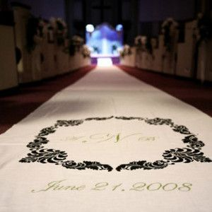 March your way to your hubby to be on only the best walkway with the Classic DIY Aisle Runner. #DIYweddingideas
