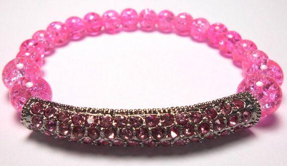 Sideways Bar Beaded Stretch Bracelets  Arm Candy  by ShopJosette
