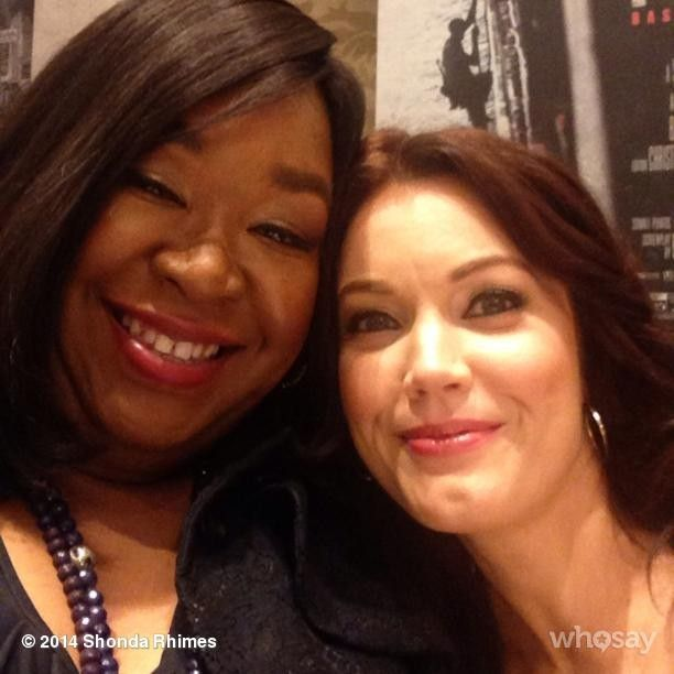 Shonda Rhymes (creator executive producer and showrunner of both Scandal and Grey's Anatomy) and Bellamy young (Mellie Grant)