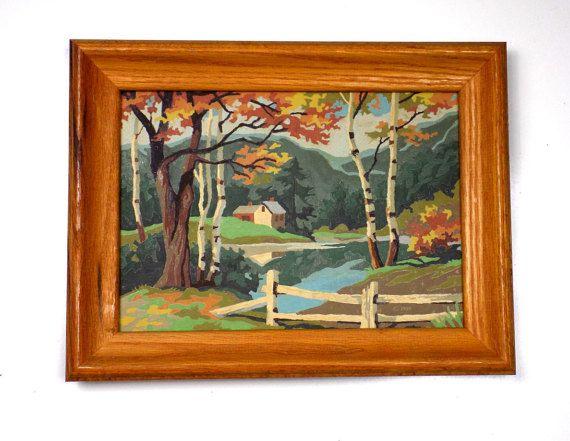 Vintage herfst Paint By Numbers ingelijste kunst