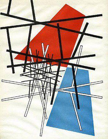 O. T.( intersezione di linee rette, piani) Sophie Taeuber-Arp, 1942