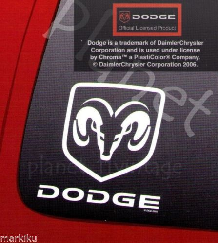 White Dodge Ram car truck table window Vinyl sticker decal by auto art Die Cuts  Available in our Ebay store Planet11vintage.  http://www.ebay.ca/itm/White-Dodge-Ram-car-truck-tablet-window-Vinyl-sticker-decal-by-auto-art-Die-Cuts-/141802706820?hash=item2104199784:g:3~MAAOSwhcJWIBza