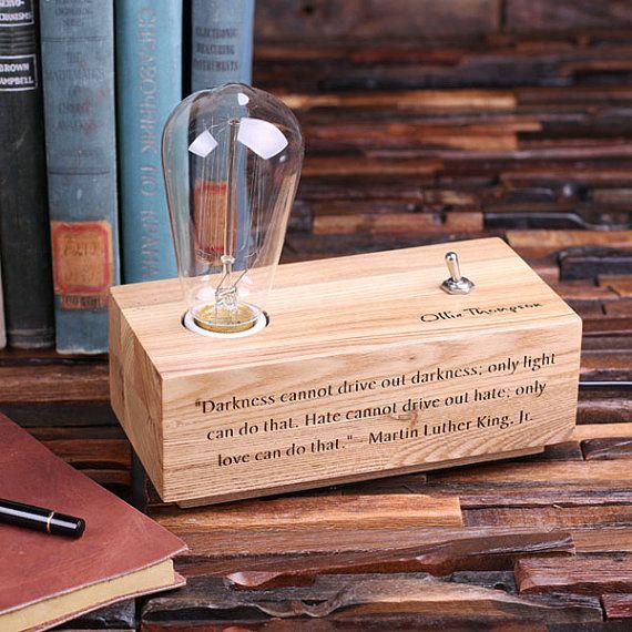 Edison Lamp gegraveerd gepersonaliseerde aangepaste