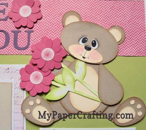Cricut Paper Piecing, Cricut Bear paper Piecing using Art Philosophy Cricut Cartridge Cuts and My Expression only. http://www.mypapercrafting.com/2014/05/cricut-art-philosophy-bears-paper-piecing.html