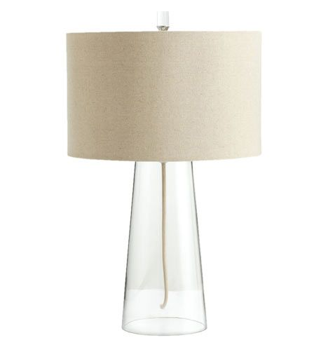 clear glass tapered table lamp rejuvenation lighting 349