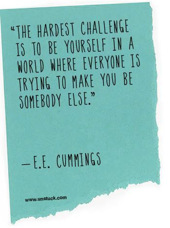 charming life pattern: e.e. cummings - quote - be yourself ...
