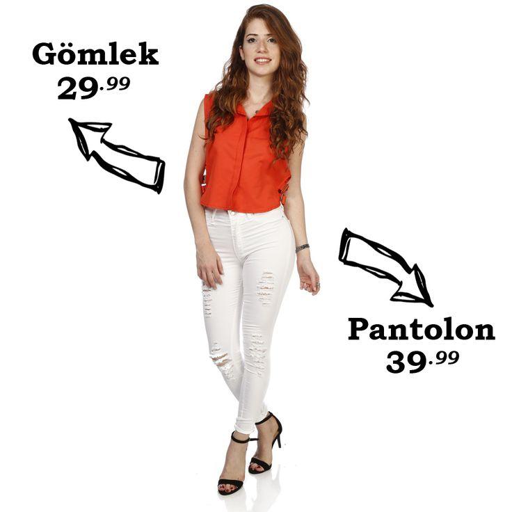 Günün Kombin Önerisi  Gömlek ;http://goo.gl/cXoFaS Pantolon;http://goo.gl/NzToBB