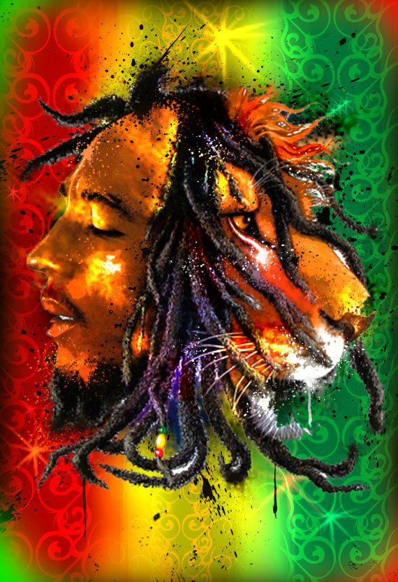 13 x 19 Original Print Custom Art of BOB MARLEY by NonUglyFaces, $20.00