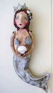 Nancye Williams: Art Dollies, Mermaid Art, Art Dollz, Paper Mache, Art Mermaids, Dolls Paper, Mermaid Dolls, Art Dolls