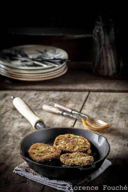 Gourmandises Chroniques: Coulemelles panées & Tofu fumé : 100% Veggie !
