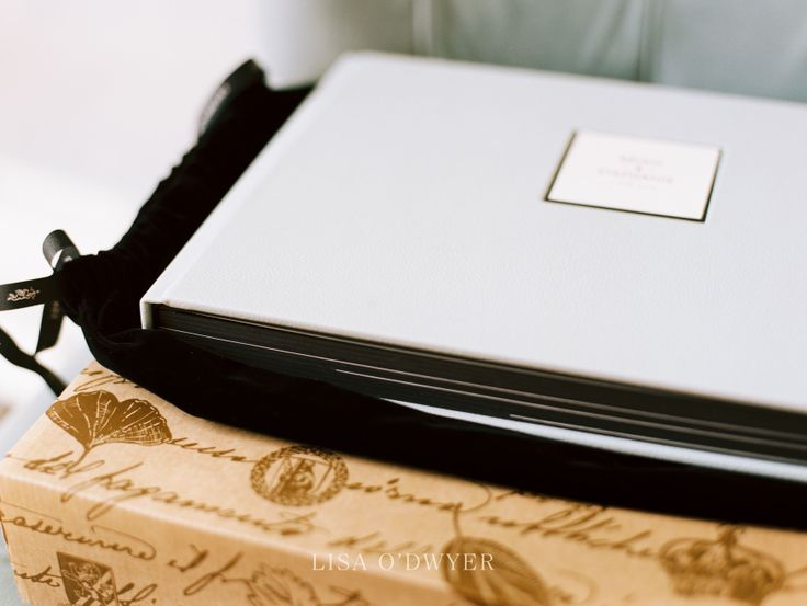 Queensberry Wedding Album | Duo with Genuine Leather cover in white | Lisa O'Dwyer Photography #weddingalbum