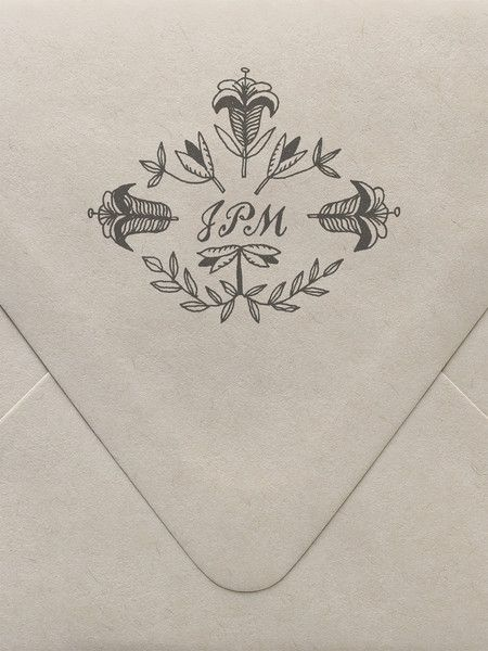Lily Monogram Custom Stamp