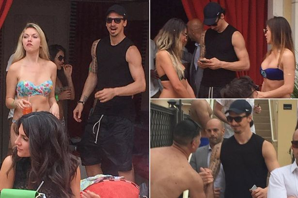 Zlatan Ibrahimovic surrounded by beautiful women in Las Vegas - reaches peak Zlatan - Mirror Online