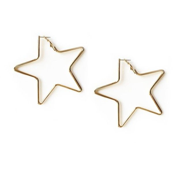 Tuleste Small Star Hoop Earrings Goop ❤ liked on Polyvore featuring jewelry, earrings, special occasion jewelry, golden jewelry, holiday jewelry, star jewelry and tuleste