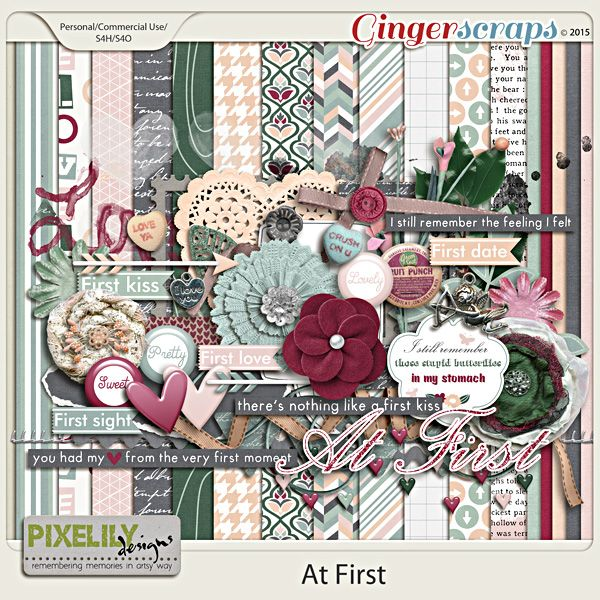 {At First} Digital Scrapbook Kit by Pixelily Designs available at Gingerscraps.net  http://store.gingerscraps.net/At-First #digiscrap #digitalscrapbooking #pixelilydesigns #atfirst