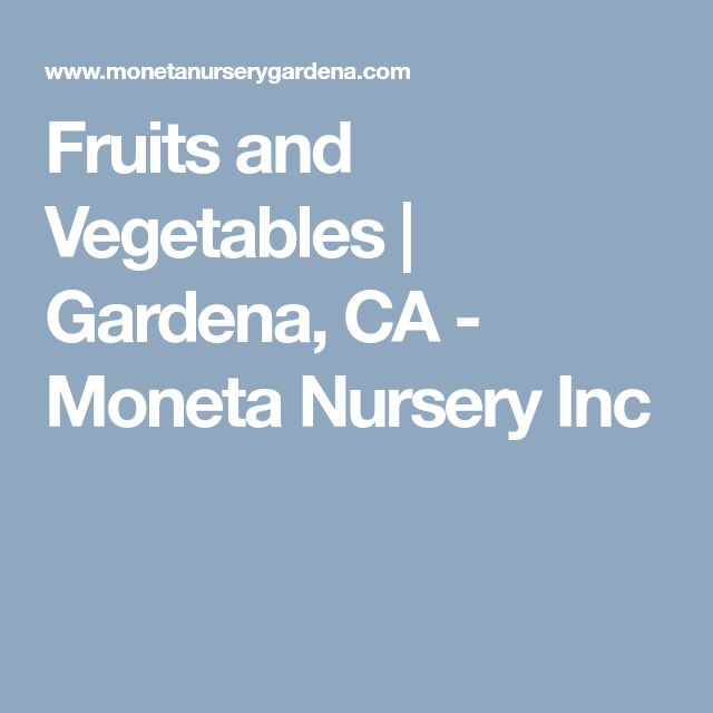 Fruits And Vegetables Gardena Ca Moneta Nursery Inc