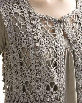 crochet vest detail