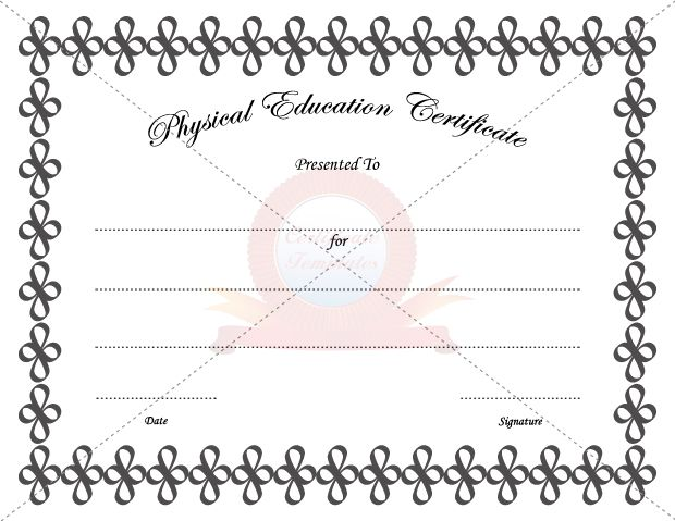 9 best PHYSICAL EDUCATION TEMPLATE images on Pinterest - congratulations certificate template word