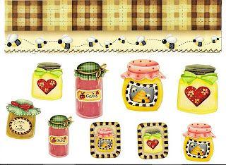 Etiquetas para decorar botes mermelada-Imagenes y dibujos para imprimir